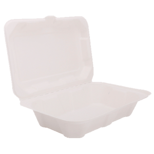1000ml Bagasse Clam Shell Box | Purple Company