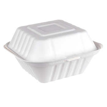450ml Bagasse Clam Shell Box