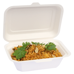650ml Bagasse Clam Shell Box