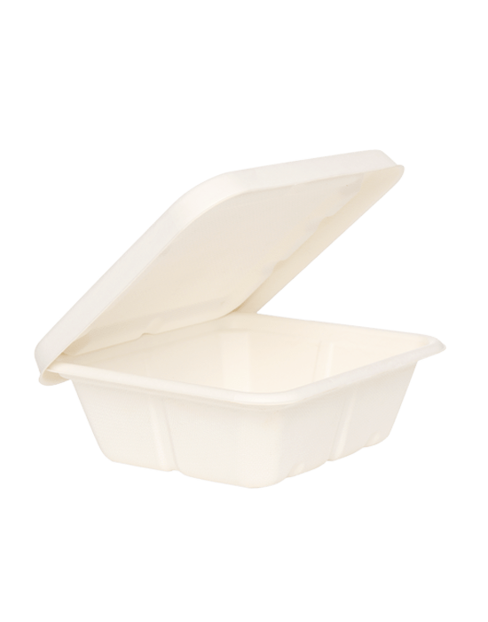 750ml Bagasse Food Box + Bagasse Lid