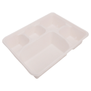5 Compartment Bagasse Tray