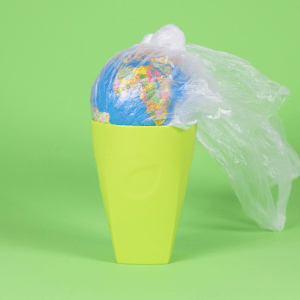 Use of plastics in food packaging.