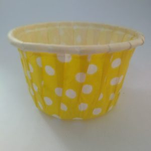 Yellow Polka Dot Cupcake Big