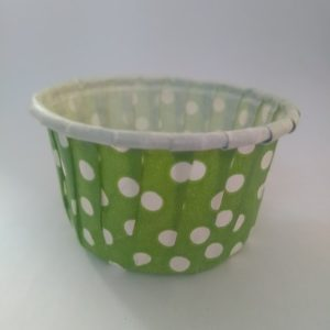 Green Polka Dot Cupcake Small