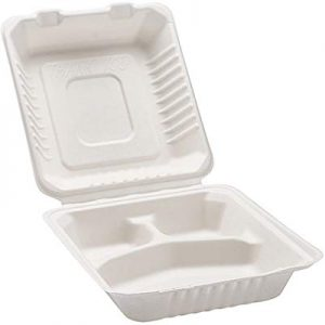3 Compartment Clam Shell Box